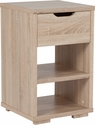 Howell Collection End Table with Storage Drawer in Sonoma Oak Wood Grain Finish [EV-ST-6140-00-GG]
