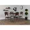 Hudson 5 Piece Walnut Finish Dinette Set with Chairs [XM-JM-A0212-M-GG]