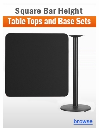 Individual Square Bar Height Table and Base Sets