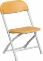 Kids Yellow Plastic Folding Chair [Y-KID-YL-GG]