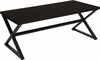 Larchmont Collection Espresso Wood Finish Coffee Table with Contemporary Metal Legs [NAN-JH-1793CT-GG]