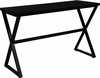Larchmont Collection Espresso Wood Finish Console Table with Contemporary Metal Legs [NAN-JH-1793ST-GG]