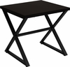 Larchmont Collection Espresso Wood Finish End Table with Contemporary Metal Legs [NAN-JH-1793ET-GG]
