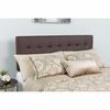 Lennox Tufted Upholstered King Size Headboard in Brown Vinyl [HG-HB1705-K-BR-GG]