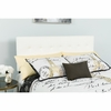 Lennox Tufted Upholstered Twin Size Headboard in White Vinyl [HG-HB1705-T-W-GG]