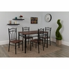 Lexington 5 Piece Mahogany Finish Dinette Set with Chairs [XM-JM-A0136-GG]