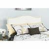 Lexington Upholstered Full Size Headboard with Decorative Nail Trim in White Fabric [HG-HB1707-F-W-GG]