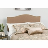 Lexington Upholstered King Size Headboard with Decorative Nail Trim in Camel Fabric [HG-HB1707-K-C-GG]