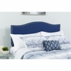 Lexington Upholstered King Size Headboard with Decorative Nail Trim in Navy Fabric [HG-HB1707-K-N-GG]