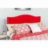 Lexington Upholstered King Size Headboard with Decorative Nail Trim in Red Fabric [HG-HB1707-K-R-GG]