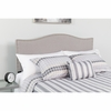 Lexington Upholstered Queen Size Headboard with Decorative Nail Trim in Light Gray Fabric [HG-HB1707-Q-LG-GG]