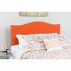 Lexington Upholstered Queen Size Headboard with Decorative Nail Trim in Orange Fabric [HG-HB1707-Q-O-GG]
