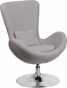 Egg Series Light Gray Fabric Side Reception Chair [CH-162430-LTGY-FAB-GG]