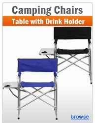 Lightweight Aluminum Chairs with Table and Drink Holders