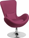 Egg Series Magenta Fabric Side Reception Chair [CH-162430-MAG-FAB-GG]