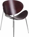 Mahogany Bentwood Leisure Side Reception Chair [SD-2268-7-MAH-GG]