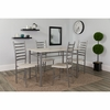 Manhattan 5 Piece Whitewashed Beech Finish Dinette Set with Chairs [XM-JM-A0053M-W-GG]