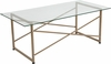 Mar Vista Collection Glass Coffee Table with Matte Gold Frame [NAN-JH-1796CT-GG]