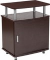 Markham Collection Espresso Wood Finish Side Table [NAN-JH-1704-GG]