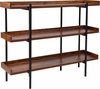 Mayfair Rustic Wood Grain Finish Storage Shelf with Black Metal Frame [JN-2542B3-GG]