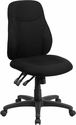 Mid-Back Black Fabric Multifunction Ergonomic Swivel Task Chair [BT-90297M-GG]
