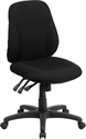 Mid-Back Black Fabric Multifunction Ergonomic Swivel Task Chair [BT-90297S-GG]