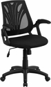 Mid-Back Black Mesh Swivel Task Chair with Arms [GO-WY-82-GG]