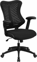 High Back Designer Black Mesh Executive Swivel Chair with Adjustable Arms [BL-ZP-806-BK-GG]