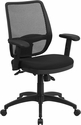 Mid-Back Black Mesh Executive Swivel Chair with Back Angle Adjustment and Adjustable Arms [WR72BLACK-GG]
