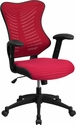 High Back Designer Burgundy Mesh Executive Swivel Chair with Adjustable Arms [BL-ZP-806-BY-GG]