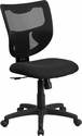 Galaxy Mid-Back Designer Black Mesh Back Swivel Task Chair [WL-F061SYG-MF-GG]