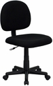 Mid-Back Black Fabric Swivel Task Chair [BT-660-BK-GG]