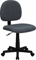 Low Back Gray Fabric Swivel Task Chair [BT-660-GY-GG]