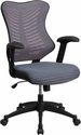 High Back Designer Gray Mesh Executive Swivel Chair with Adjustable Arms [BL-ZP-806-GY-GG]