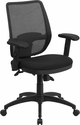 Mid-Back Gray Mesh Executive Swivel Chair with Back Angle Adjustment and Adjustable Arms [WR72GREY-GG]