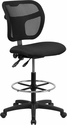 Mid-Back Black Mesh Drafting Chair [WL-A7671SYG-BK-D-GG]