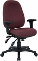 Mid-Back Multifunction Burgundy Fabric Executive Swivel Chair with Adjustable Arms [BT-662-BY-GG]