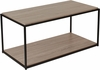 Midtown Collection Sonoma Oak Wood Grain Finish Coffee Table with Black Metal Frame [NAN-JN-21744CT-GG]