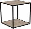 Midtown Collection Sonoma Oak Wood Grain Finish End Table with Black Metal Frame [NAN-JN-21744ET-GG]
