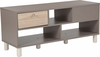Montclair Collection Coffee Table in Gray Finish with Sonoma Oak Wood Grain Drawers [EV-CT-3811-00-GG]