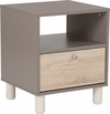 Montclair Collection End Table in Gray Finish with Sonoma Oak Wood Grain Drawer [EV-ST-4143-00-GG]