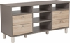 Montclair Collection TV Stand in Gray Finish with Sonoma Oak Wood Grain Drawers [EV-ET-4812-06-GG]