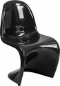Mystique Series Black Plastic Stacking Side Chair [FH-127-AAS-BK-GG]