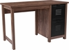New Lancaster Collection Crosscut Oak Wood Grain Finish Computer Desk with Metal Drawers [NAN-JN-21736T-GG]
