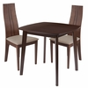 Newport 3 Piece Walnut Wood Dining Table Set with Padded Wood Dining Chairs [ES-78-GG]