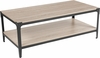 Northvale Collection Sonoma Oak Wood Finish Coffee Table with Black Metal Legs [NAN-JH-17100CT-GG]