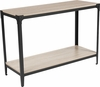 Northvale Collection Sonoma Oak Wood Finish Console Table with Black Metal Legs [NAN-JH-17100ST-GG]