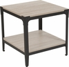 Northvale Collection Sonoma Oak Wood Finish End Table with Black Metal Legs [NAN-JH-17100ET-GG]