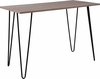 Oak Park Collection Driftwood Wood Grain Finish Console Table with Black Metal Legs [NAN-JH-1702-GG]