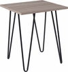 Oak Park Collection Driftwood Wood Grain Finish End Table with Black Metal Legs [NAN-JH-1703-GG]
